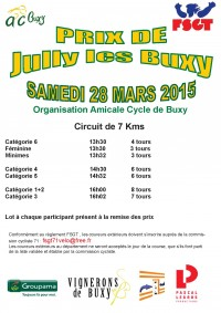 Affiche course jully